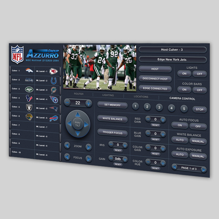 NFL Camera Control UX/UI Design