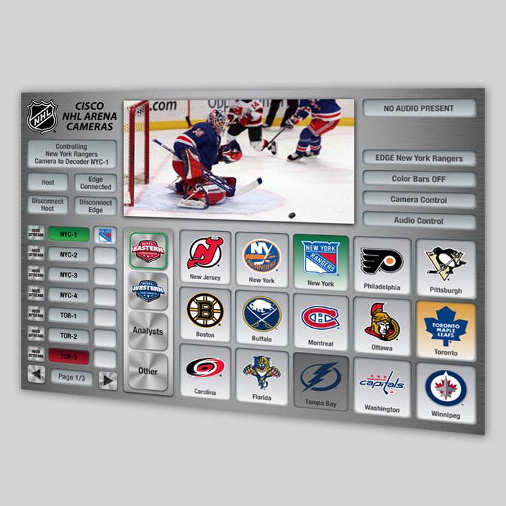 NHL Camera Control UX/UI Design
