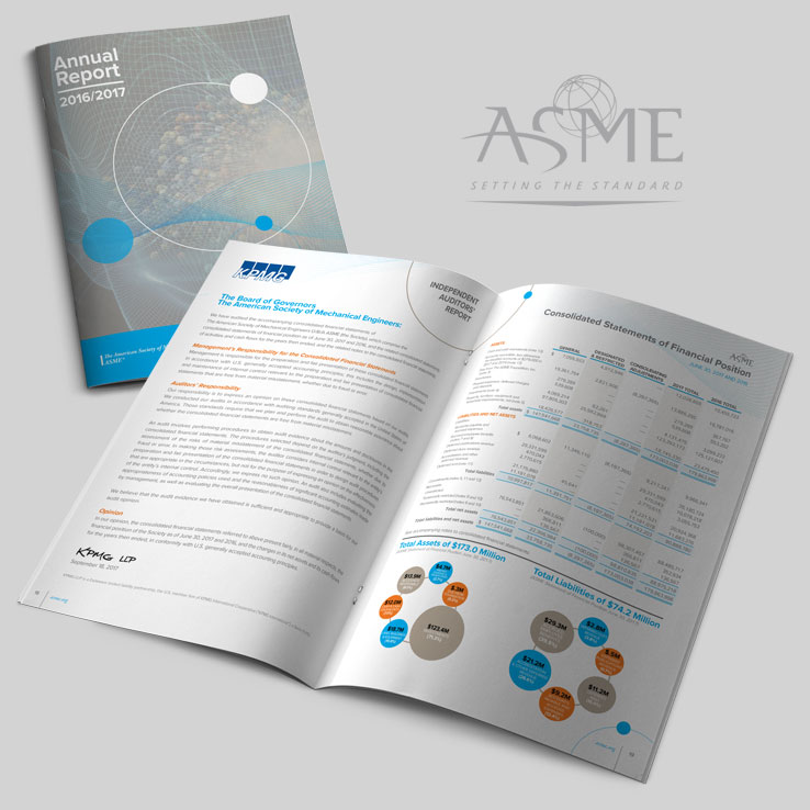 ASME Annual Report Consolidated Financials